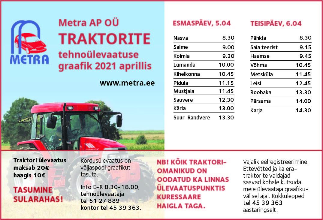 3d80b232e3f Traktorite ülevaatus - Metra